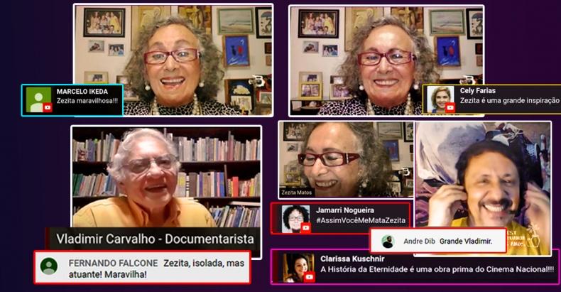 A atriz Zezita de Matos faz live histórica e 'encanta' internautas!