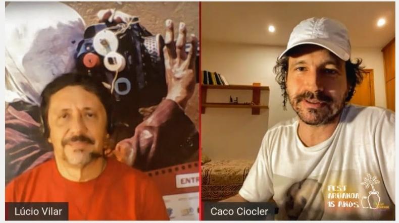 Caco Ciocler dá show de simpatia em 'Live de Cinema' e confirma presença no júri oficial do Aruanda em 2020