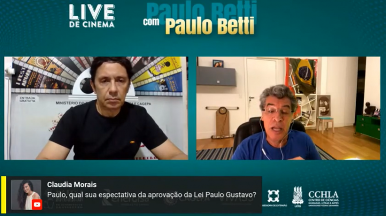 'Fascistas odeiam as artes', diz Paulo Betti em Live de Cinema...