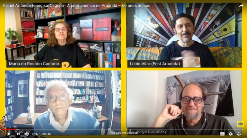 Live histórica com Vladimir Carvalho e Jorge Bodanzky encanta internautas do Fest Aruanda